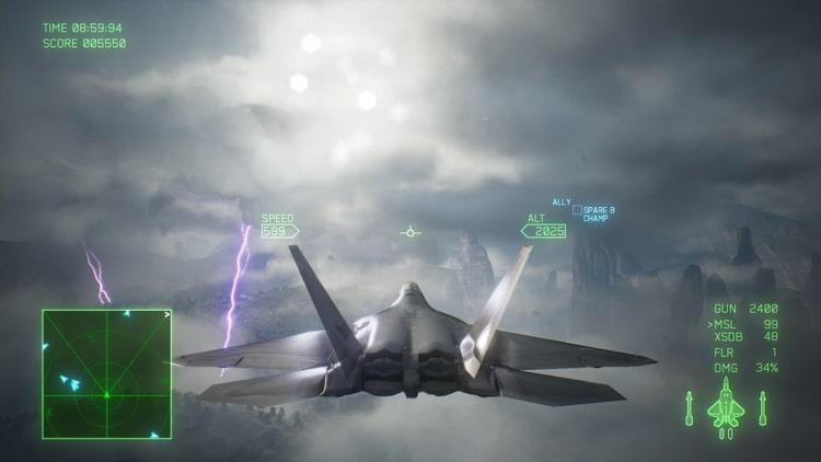 エースコンバット7 雷雲
